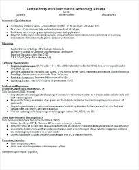 sample resume for fresher software engineer entry level resume for