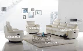 Genuine Leather Reclining Sofa China White Color High Back And Adjustable Genuine Leather