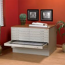 flat file cabinet for home storage wood furniture