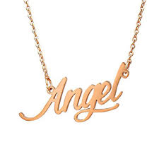 Monogrammed Necklace Gold Olivia Personalized Necklace Angel Letter Name Necklace Gold