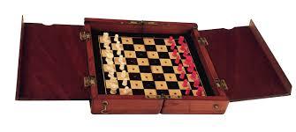 the whittington u0027 mahogany cased travelling chess set c 1900