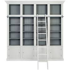 white wooden bookcase high bookcase traditional wooden with integrated ladder