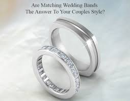 wedding bands for couples are matching wedding bands the answer to your couples style