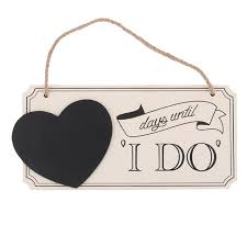 wedding countdown aliexpress buy hot days until i do wooden chalkboard sign