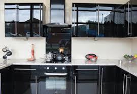 High Gloss Black Kitchen Cabinets Gloss Black Kitchen Units Valencia 6 Larder Kitchen Unit