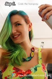 hair glitter tutorial rainbow hair colour
