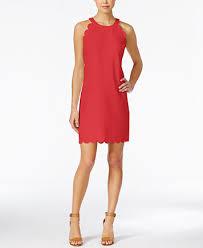 maison jules scalloped shift dress only at macy u0027s dresses