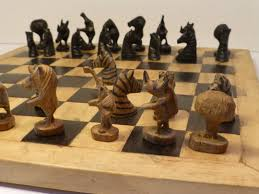unusual chess sets my chess sets malawi animal pieces allanbeardsworth