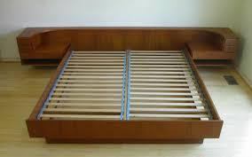 Modern King Platform Bed Teak Modern King Platform Bed By Komfort Nightstands Mcm