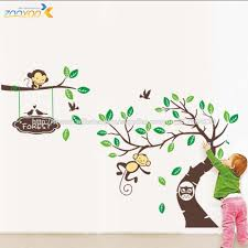 wholesale zooyoo removable pvc wall sticker decal zooyoo removable pvc wall sticker decal cartoon tree baby room decor