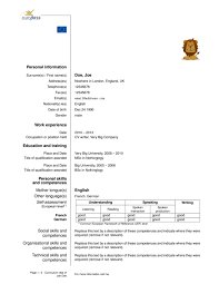 French Resume Examples by Europecv Latex Template Sharelatex Online Latex Editor