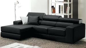 canapé noir pas cher canape cuir noir pas cher pouf design une moelleuse invitation