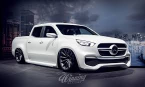 slammed mercedes benz x class looks ready to spark up the road