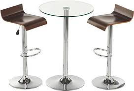 high top table and stools glass high top table and chairs modern furniture for dining