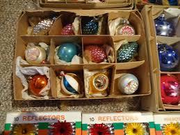 antique glass tree ornaments decore
