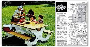 Folding Picnic Table Bench Diy by Diy Folding Picnic Table U2022 Woodarchivist