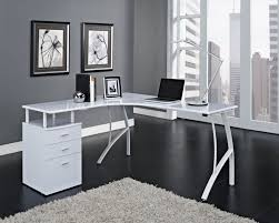 Black Corner Office Desk Black Flooring Ideas With Rug For Contemporary Home Office