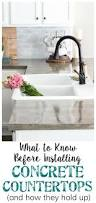 72 best ideas for kitchen countertops images on pinterest the good bad and ugly of concrete countertops