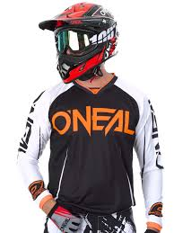 motocross jersey printing oneal black white orange 2017 mayhem lite blocker mx jersey