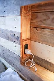 Headboards Made With Pallets Pallet Headboard With Lighting