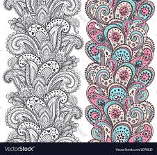 beautiful indian paisley ornaments royalty free vector image