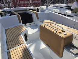 boat tables for cockpit jeanneau sun odyssey 44ds cockpit table and seats which sailboat