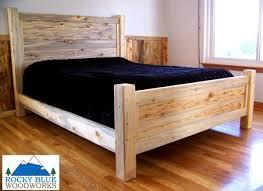 Bed Pit Bedroom Furniture Rocky Blue Woodworks Beetle Kill Pine Furniture