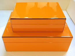 Orange Decorative Storage Boxes — Optimizing Home Decor Ideas