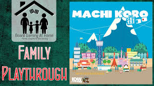 machi koro family playthrough card board game overview gameplay