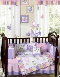 Pink And White Curtains White Pattern Dragonfly Curtains Brown Wooden Baby Bed Pink