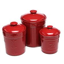 100 canister set for kitchen 4 piece canister set crimson