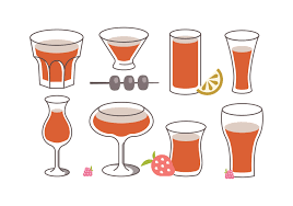 vintage cocktail vector sangria pattern vector set download free vector art stock