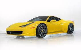 Ferrari 458 Yellow - ferrari 458 italia yellow side view hd wallpaper 1067