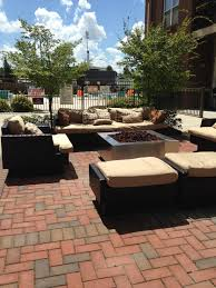 Clay Fire Pit Create A Retro Urban Patio Style With Brick Pavers Modular
