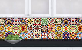 tiles decals set of 24 mexican tile stickers for kitchens decals