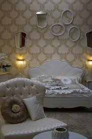 Empty White Bedroom Baroque Rococo Style Make For A Luxury Bedroom