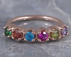 mothers ring 6 stones rings birthstone ring mothers ring custom birthstone ring