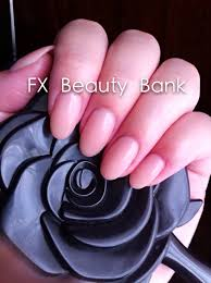 hard gel nails w oval shape pink fbeautybank downtown