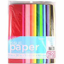 tissue paper darice tissue paper value pack assorted colors walmart