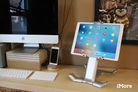 the tstand gives the ipad pro a place at your desk or on your lap
