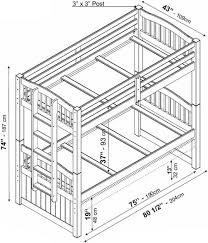 bunk bed measurements palace imports triplet twin twin bunk bed honey pine