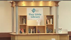 tiny little library installed in eastfield mall food court youtube