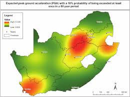africa map by year seismic hazard map of south africa representing the expected peak