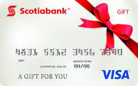 gift card visa gift card scotiabank
