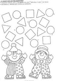 clown shape worksheet rekenen pinterest shapes worksheets