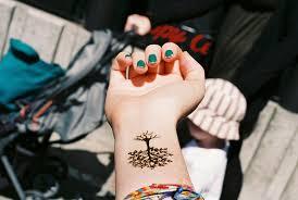 forearm nails tatoo tree wrist image 41475 on favim com