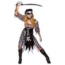 Walking Dead Halloween Costume Adults Ladies Zombie Cutthroat Pirate Costume Halloween Walking