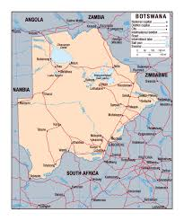 Africa Map Political by Political Map Of Botswana Botswana Africa Mapsland Maps Of