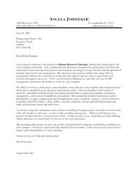 Resume Manager Outstanding Cover Letter Examples Hr Manager Cover Letter