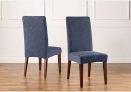 Sure Fit Stretch Pique Shorty Dining Room Chair Slipcover Slipcover Dining Chair Covers Comfy Buy Sure Fit Stretch Pique